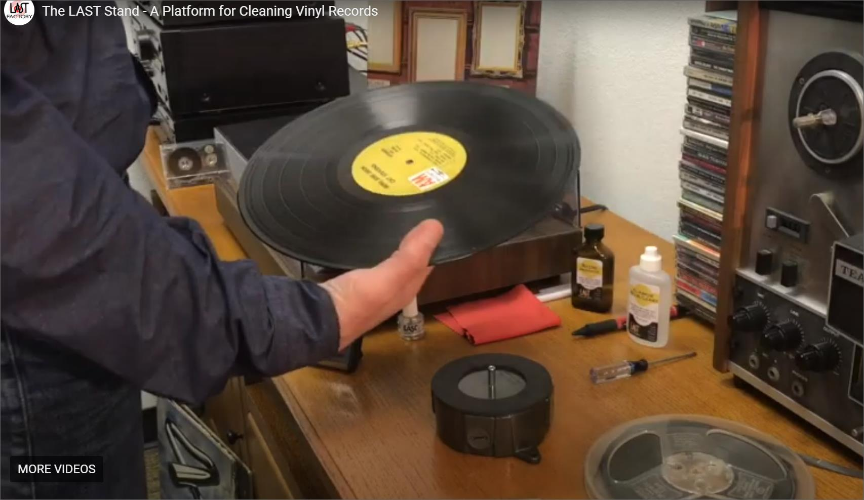 The LAST Stand - A device to secure your record during cleaning