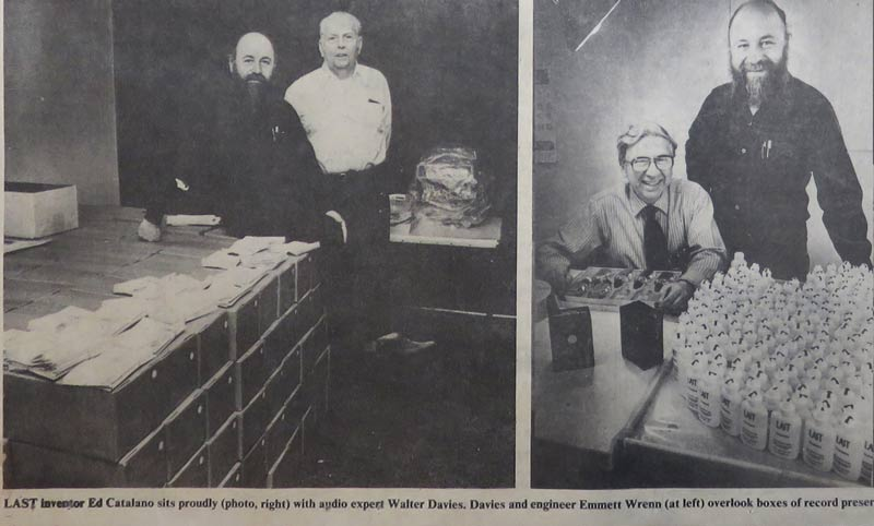 Founders Ed Catalano, Walter Davies and Emmett Wrenn